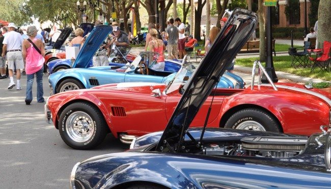 A photo from one of the many collector car events Heacock Classic sponsors