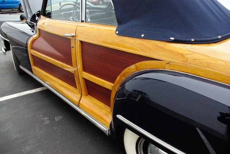 1948 Chrysler Town and Country Closeup View of Wood