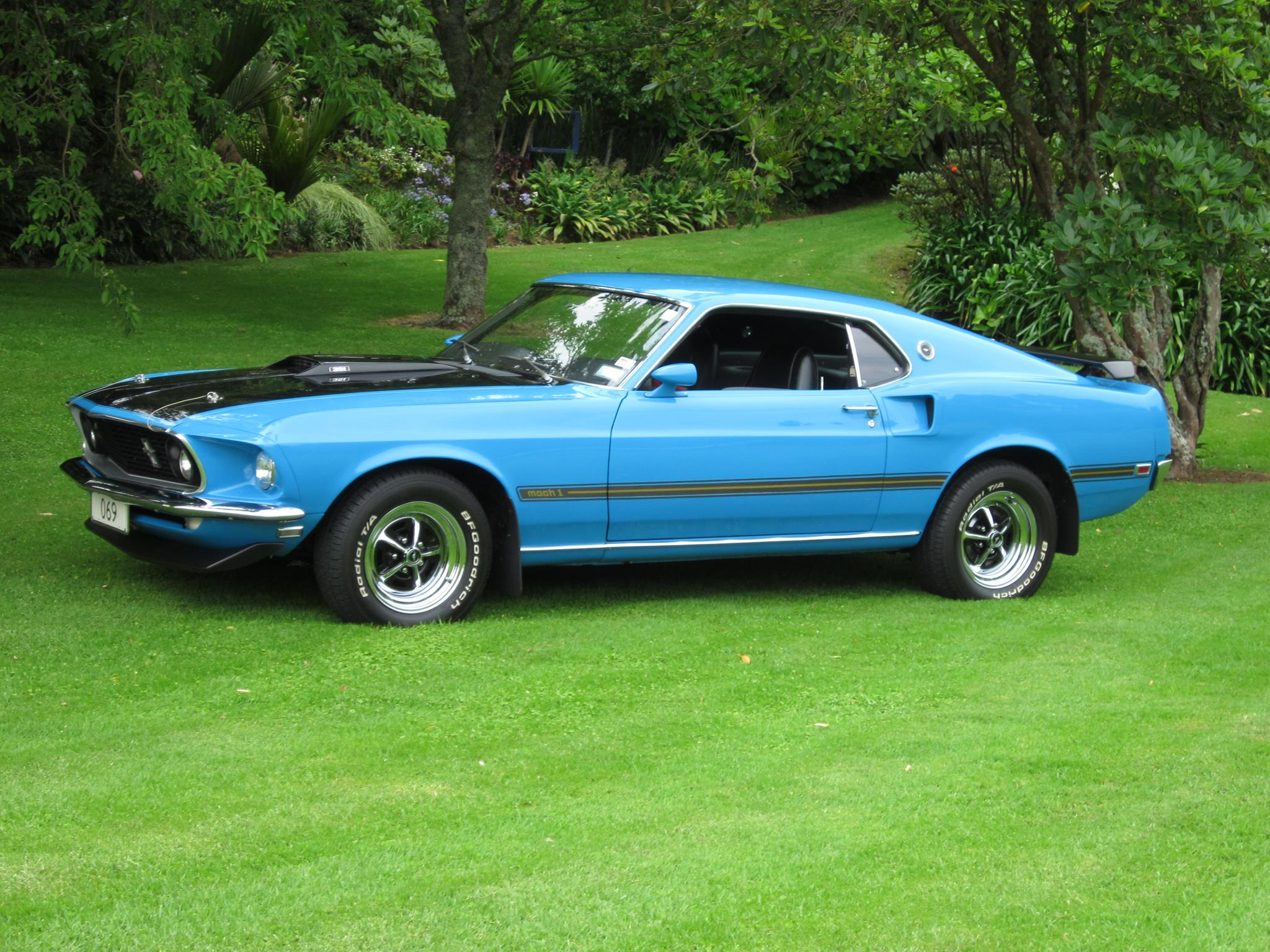 The mach 1 was a package that was available on one of the three bodystyles of the 1969