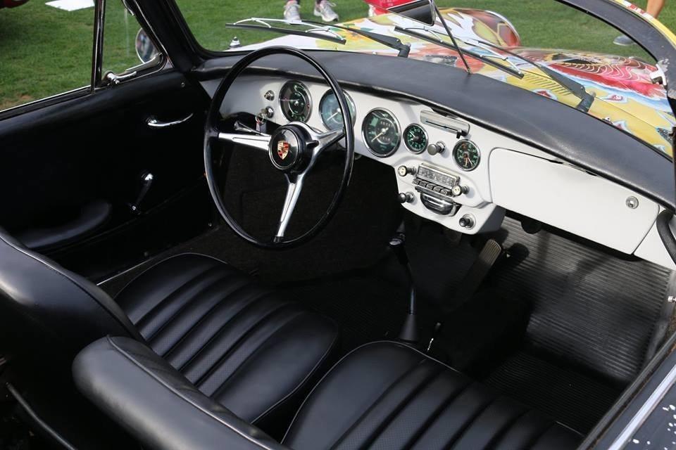 Interior of Janis Joplin 1964 Porsche 356 Cabriolet
