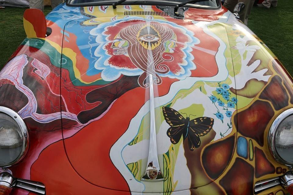 Hood of Janis Joplin 1964 Porsche 356 Cabriolet