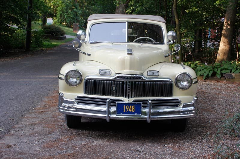 1948 Mercury Convertible front view and grill