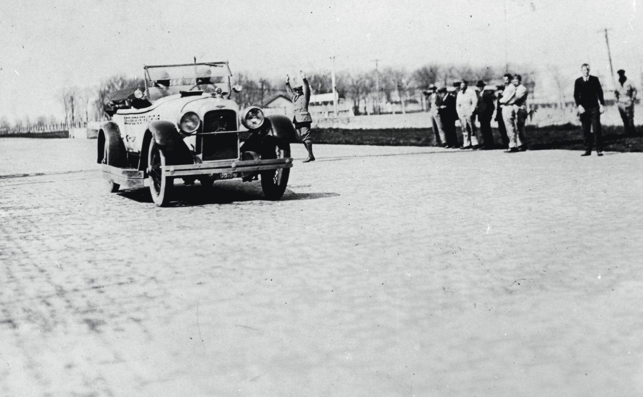 For the 1923 Indianapolis 500, Fred Duesenberg drove the pace car, the very same Model A phaeton that had amassed 18,000 test miles the previous month on the Indy oval.