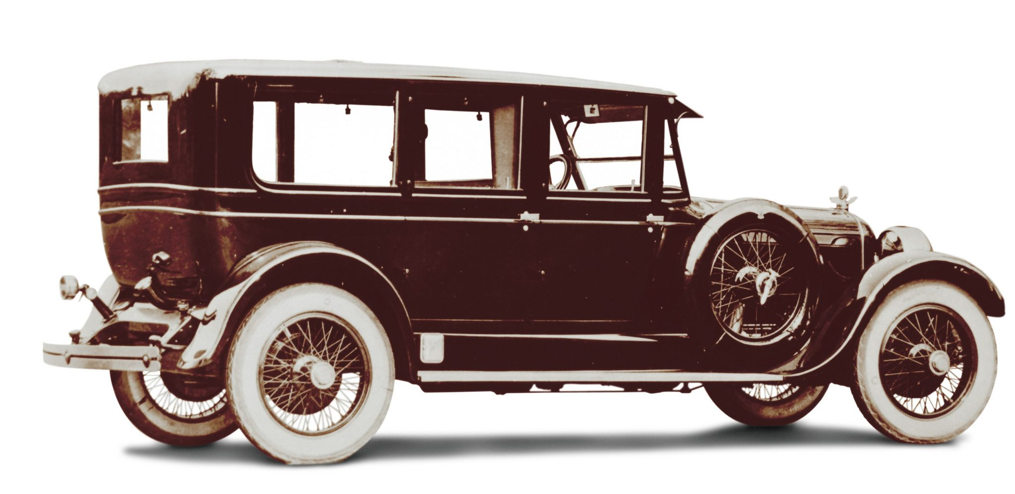 In 1924 Duesenberg added a longer 141-inch wheelbase chassis for formal coachwork, which accommodated such luxurious styling as this Deluxe Limousine by Rubay. Priced at $7,800 in 1924 it was $3,200 more than Cadillac's Type V-63 Limousine and better than double the price of Cadillac's Seven-Passenger Formal Sedan.