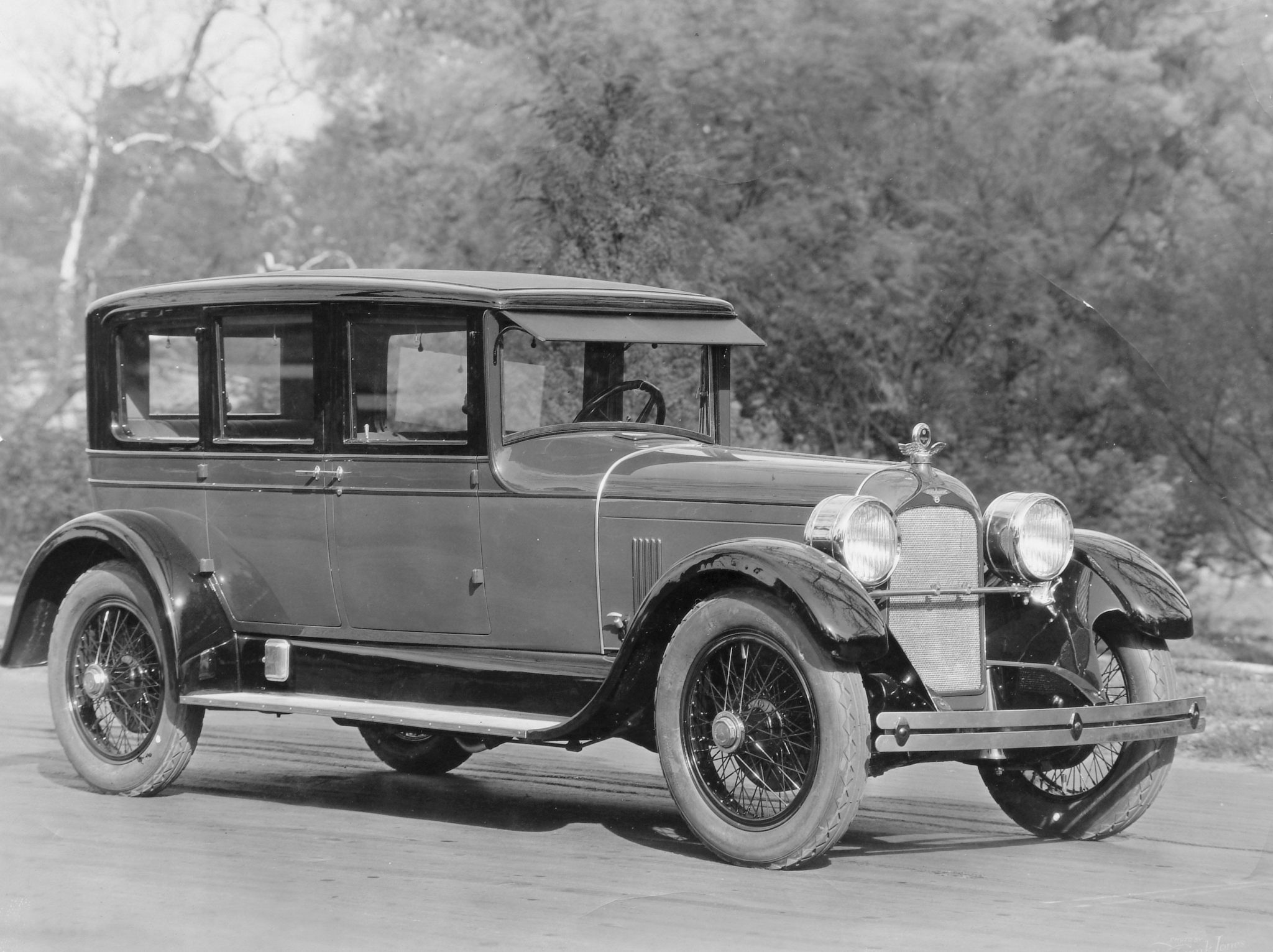 The stately five-passenger, six window sedan was introduced in 1926 at a price of $7,700. Coachwork was produced by Millspaugh & Irish.