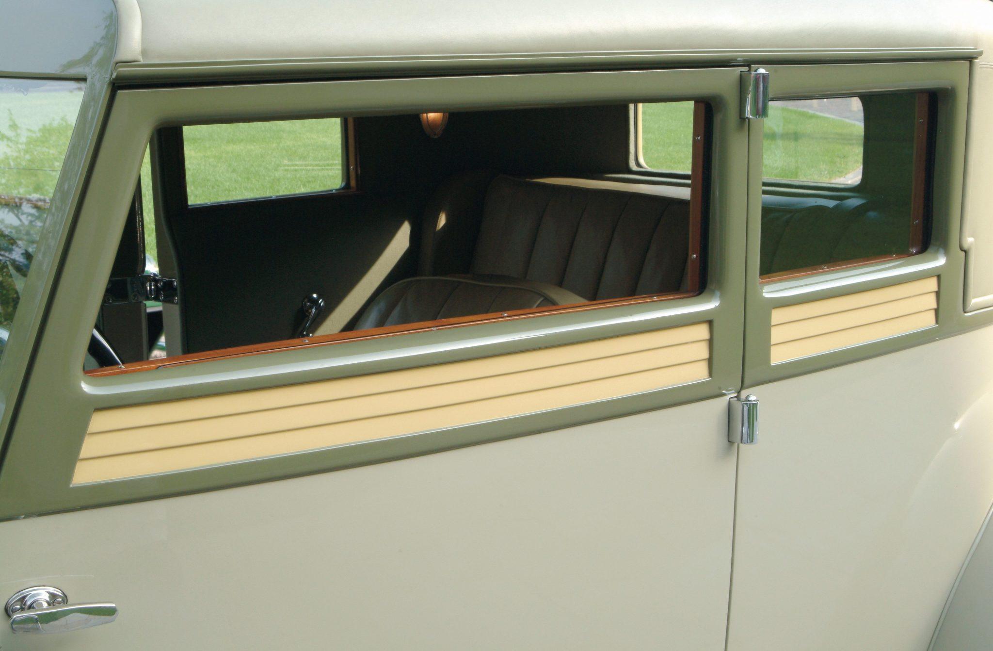1932 Duesenberg Model J Victoria Coupe louver design details