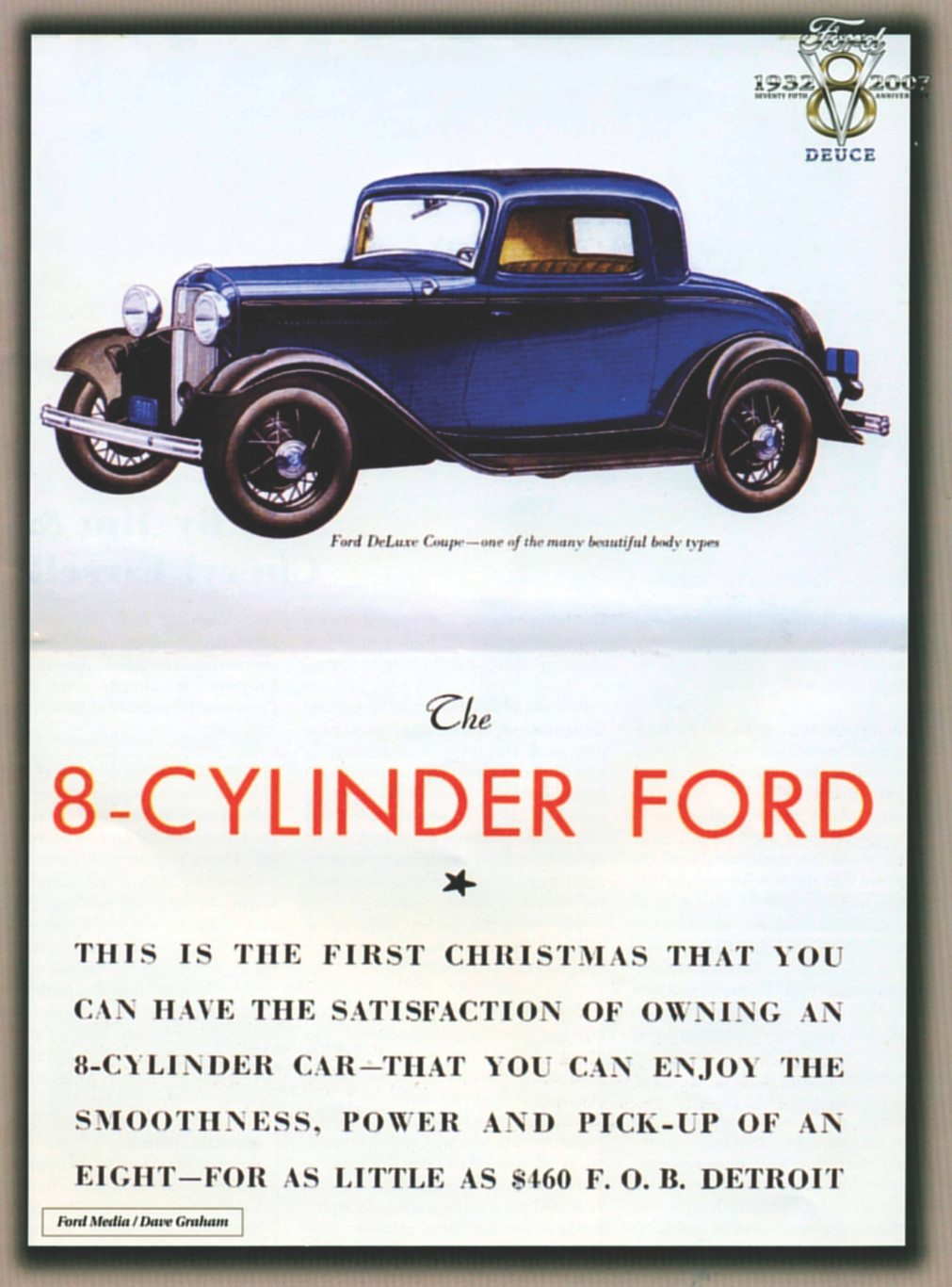 1932 ford ad the 8 cylinder ford