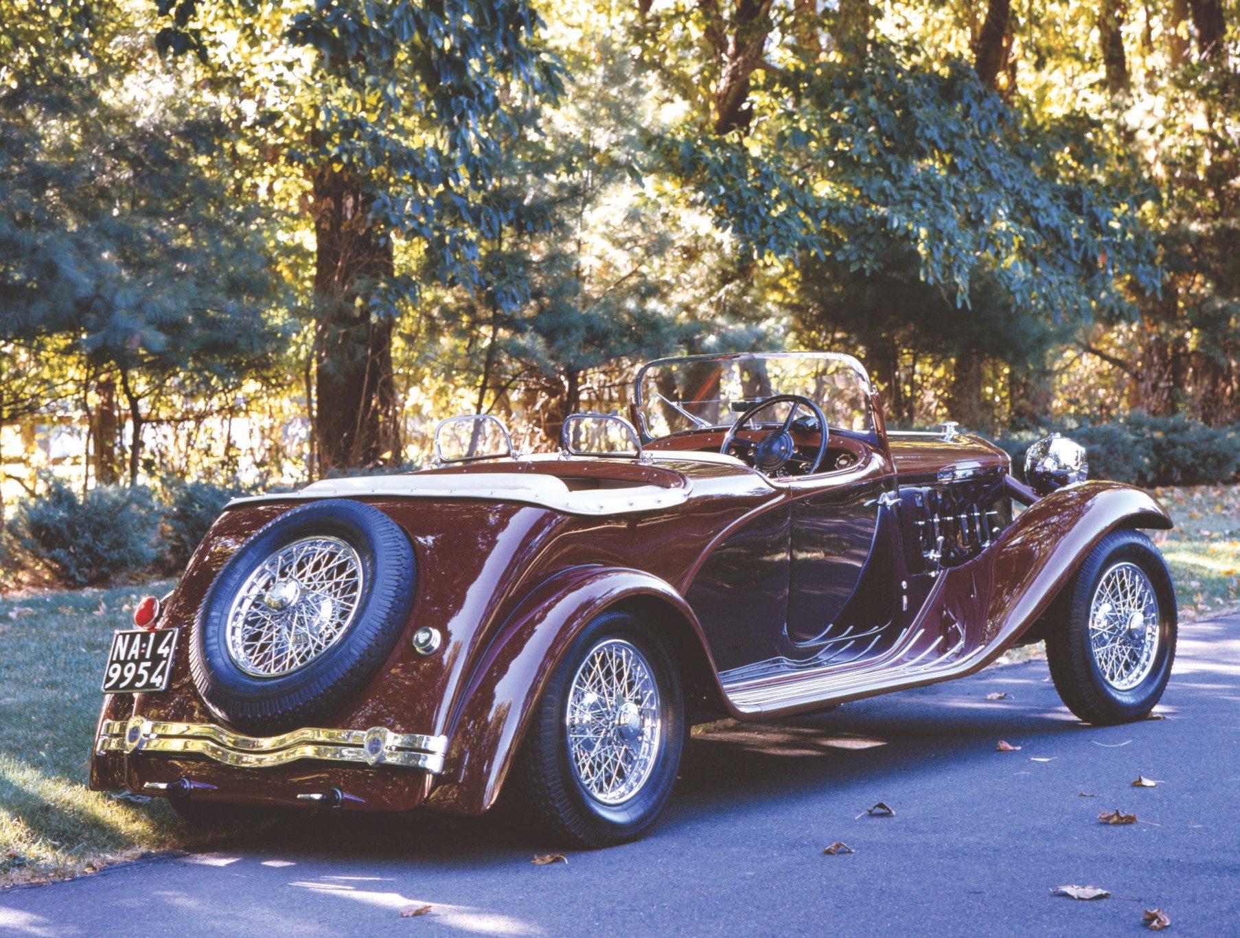 1933 Lancia Dilambda Viotti Rear