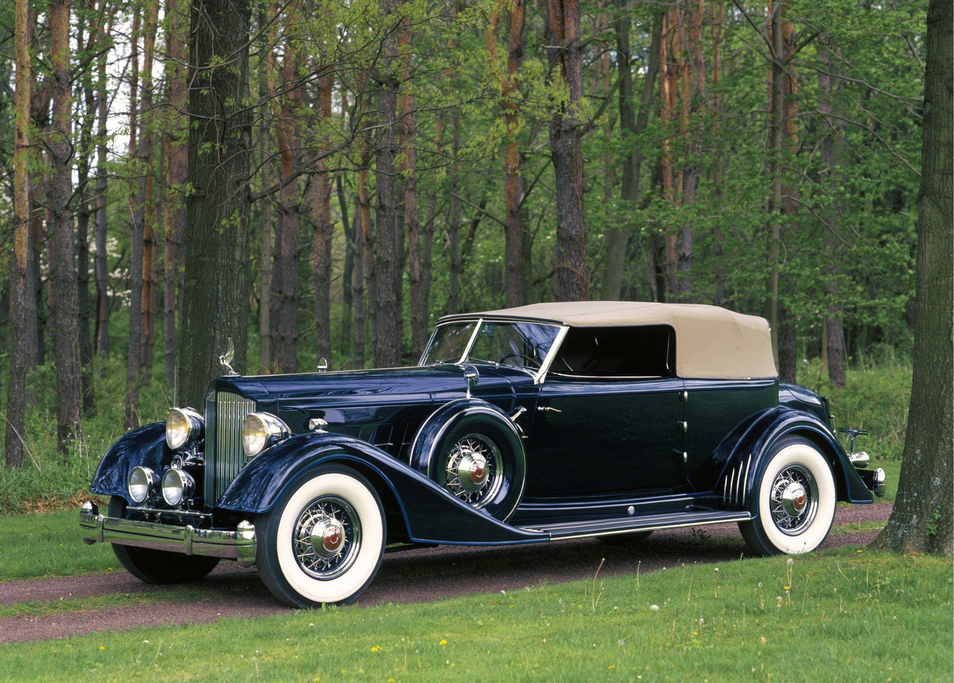1934 Packard Twelve Custom Dietrich Convertible Victoria