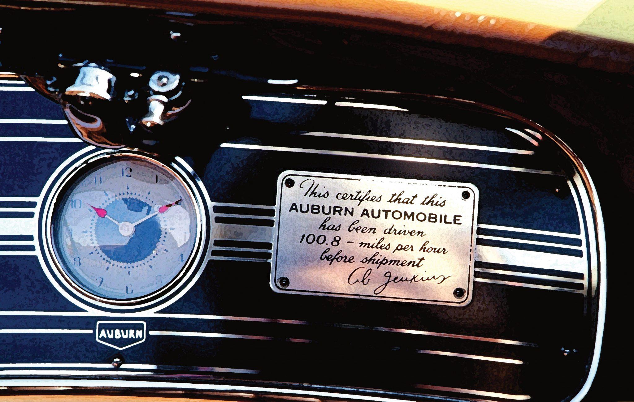 1935 Auburn Boattail Speedster Dashboard Plaque