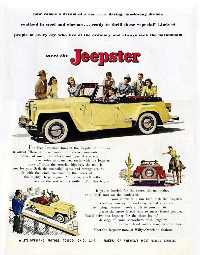 1949 Willys-Overland Jeepster Ad