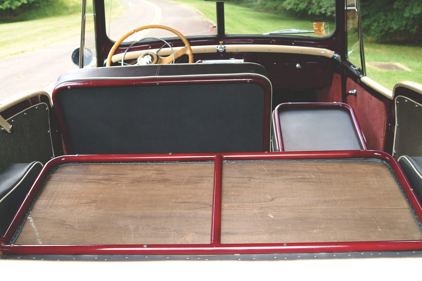 1949 Willys-Overland Jeepster Backseat Folded Down