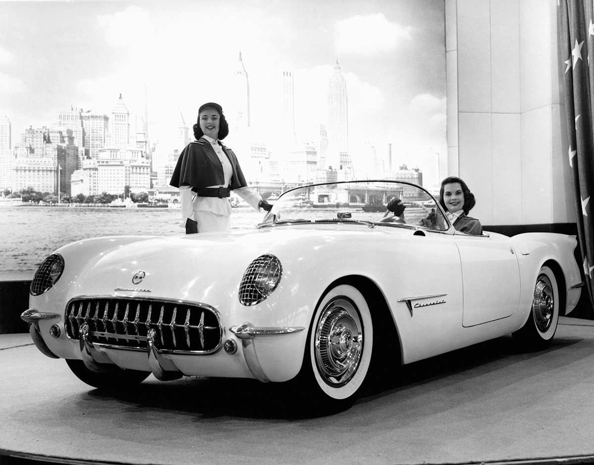 1953 Chevrolet Corvette Original Prototype Vintage Debut Photo