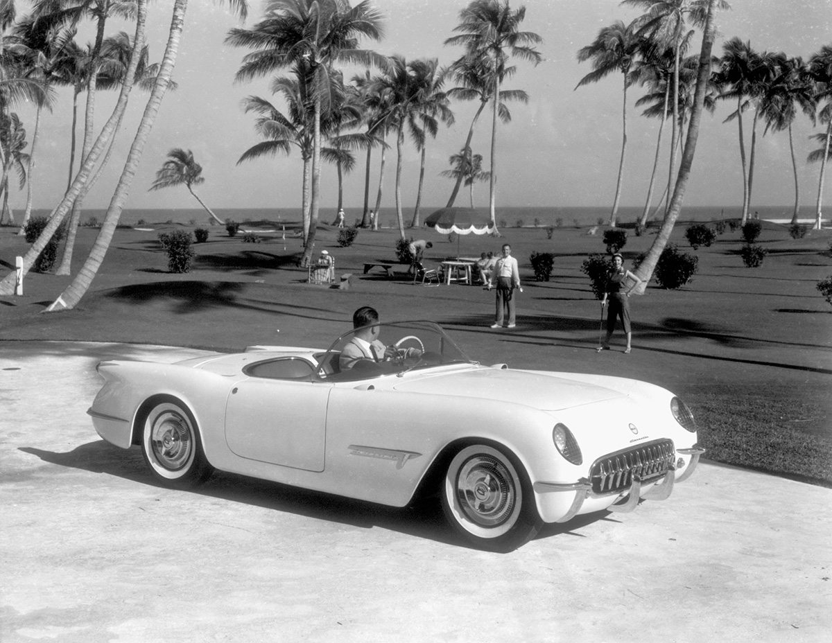 1953 Corvette Prototype Vintage Beach Photo