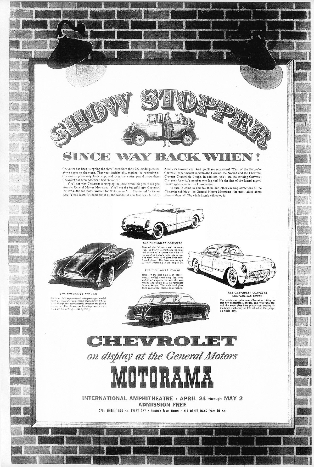 1954 GM Chevrolet Motorama Advertisement