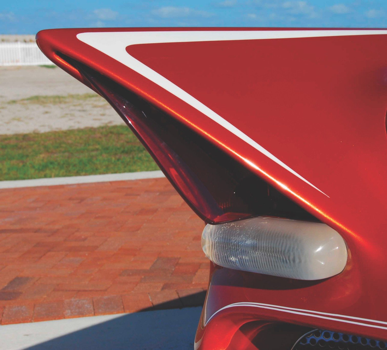 1955 Chevy Aztec Custom Close Up of Fin
