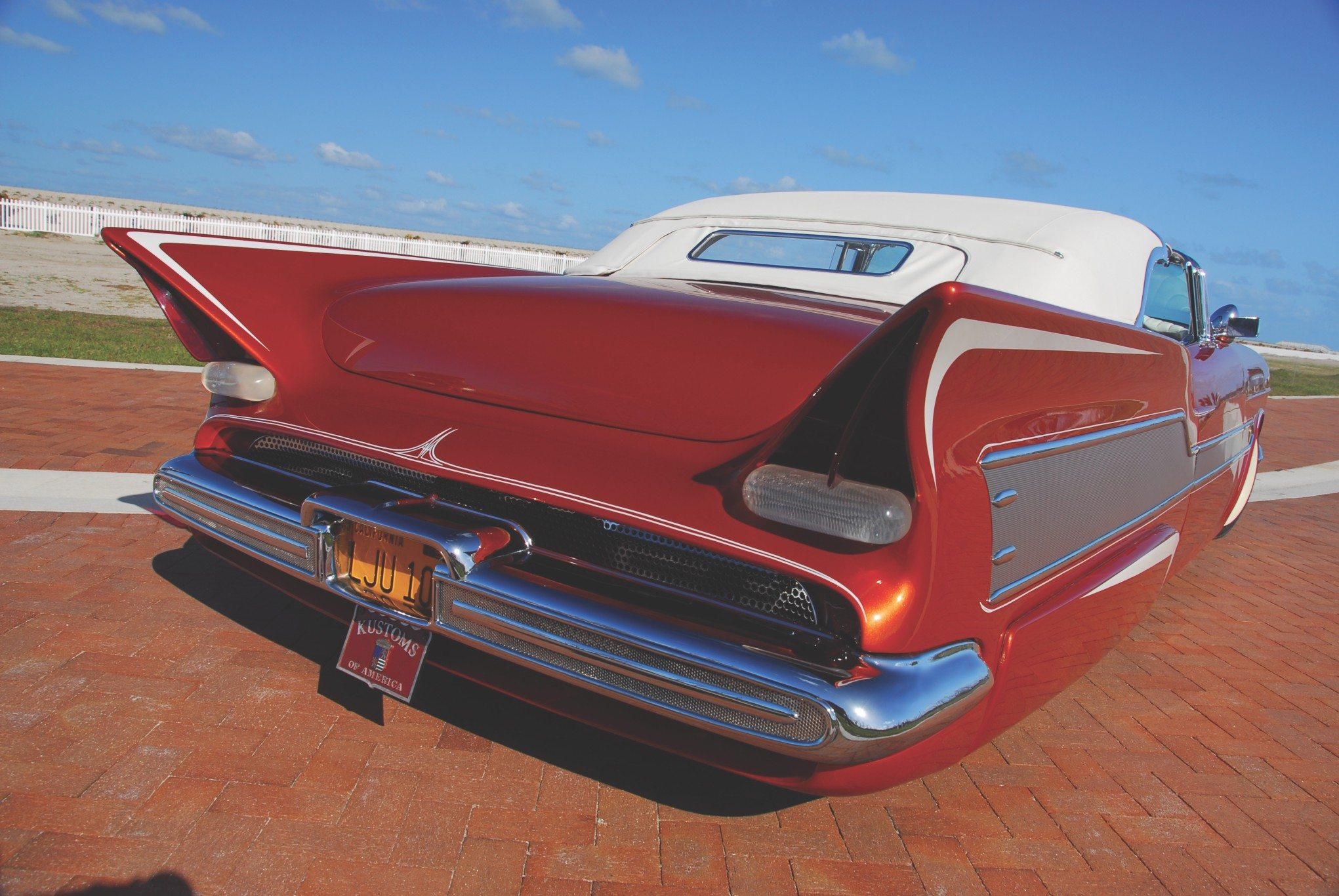 The 55 Chevy Aztec Creating Shape Of Customs To Come 1955 Custom Paint Rear Tail Fins