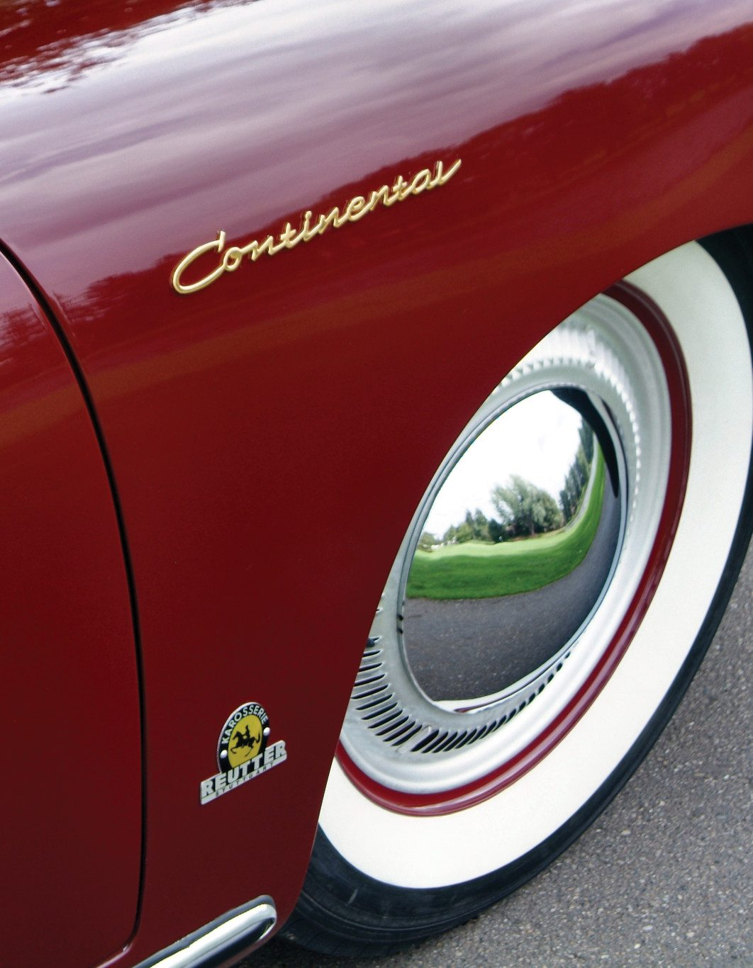 1955 Porsche 356 Continental Turbine Wheel Trims