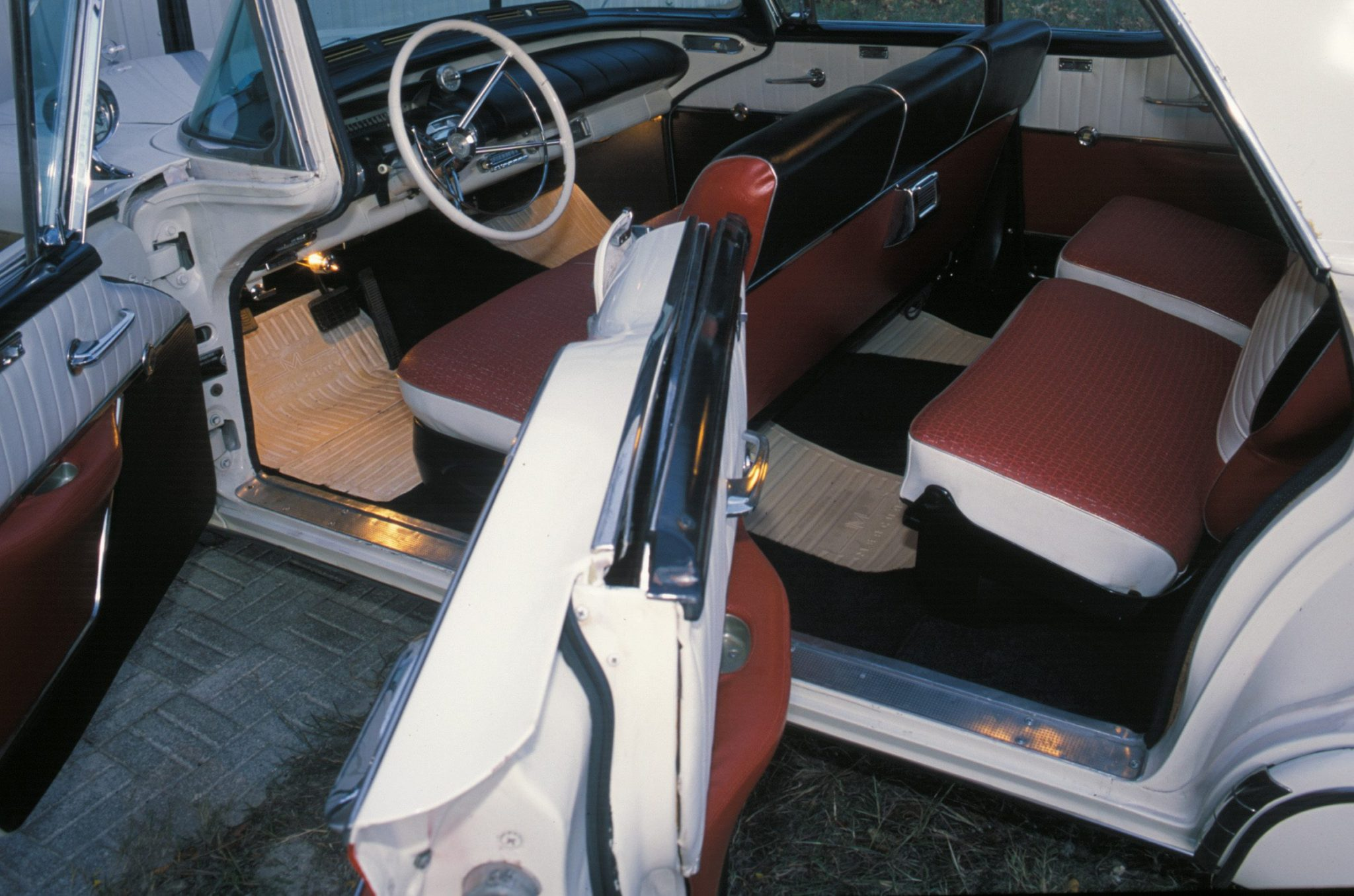 1957 Mercury Colony Park Interior With Tri-tone Upholstery