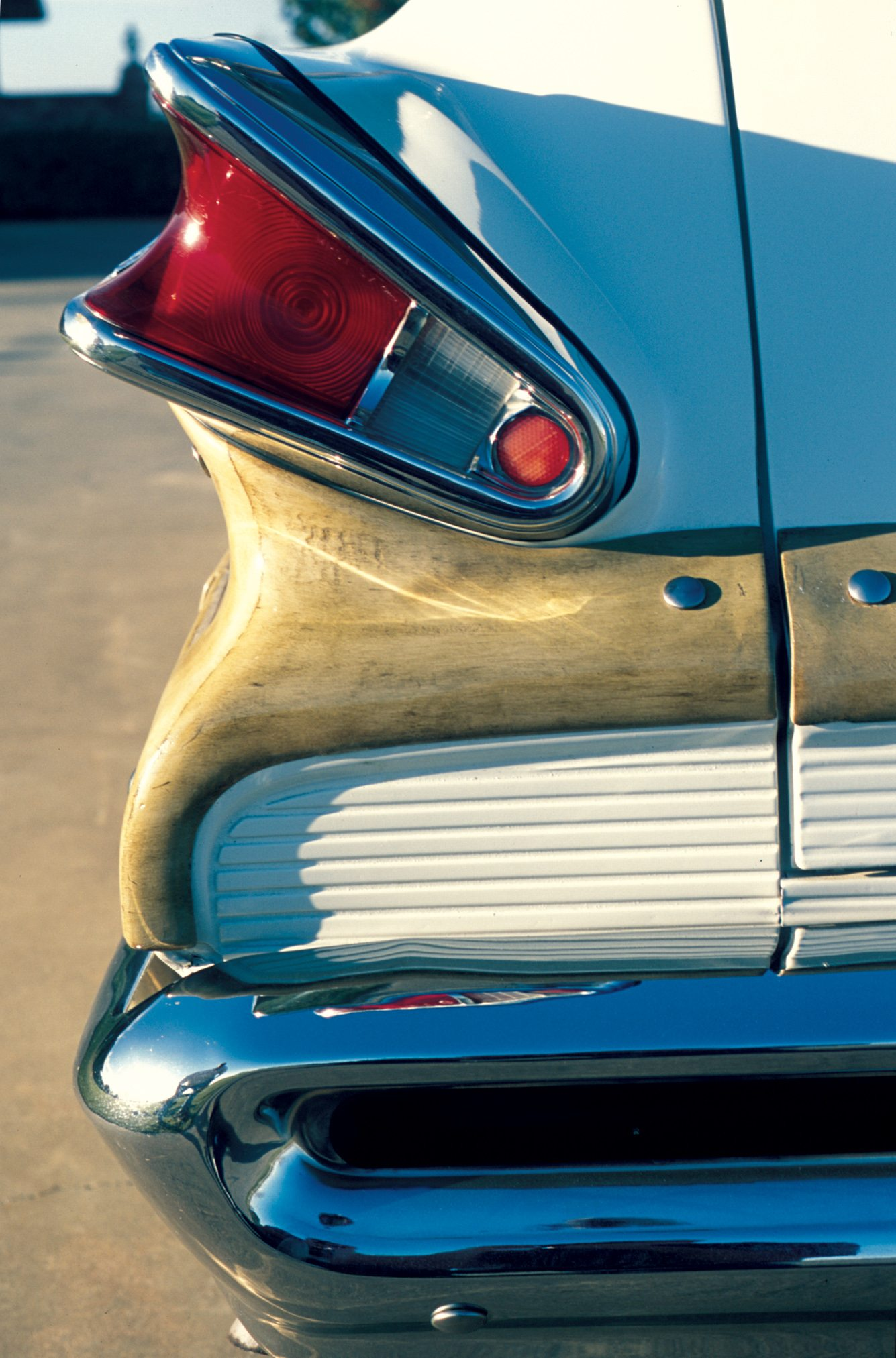 1957 Mercury Colony Park V-shaped Tail Lamps