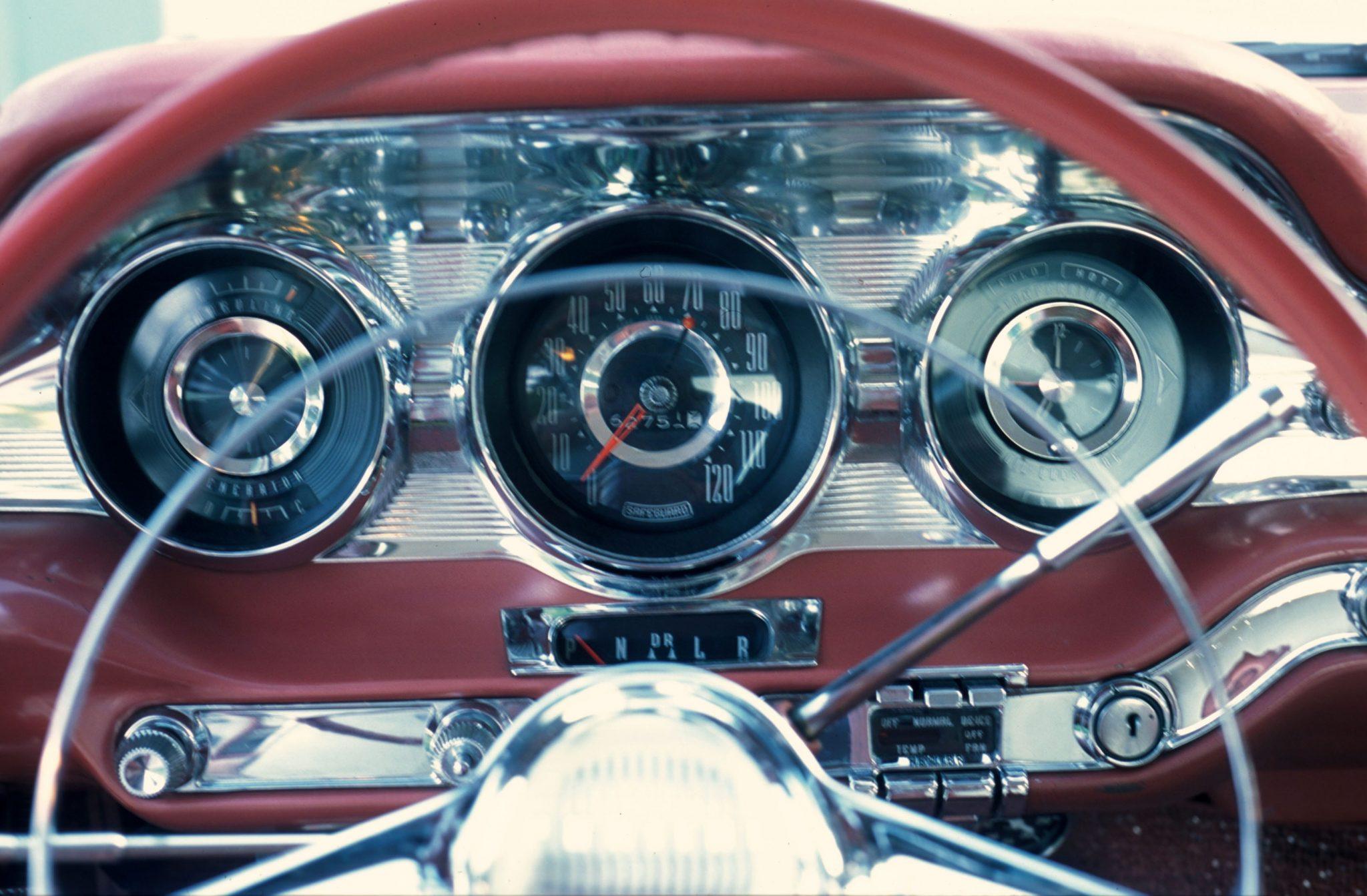 1959 Pontiac Bonneville Dash and Gauges