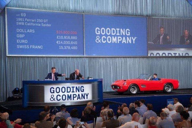 1961 Ferrari 250 GT SWB California Spider sold for $17,160,000