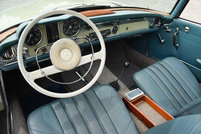 1966 MB 230 2 interior