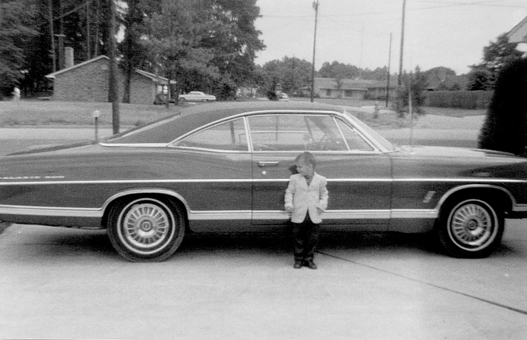 1967 Ford Galaxie 500 current owner with car as a child