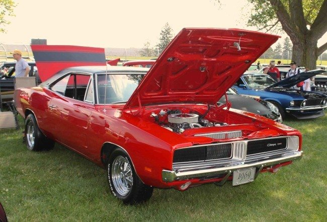 1969 Charger red