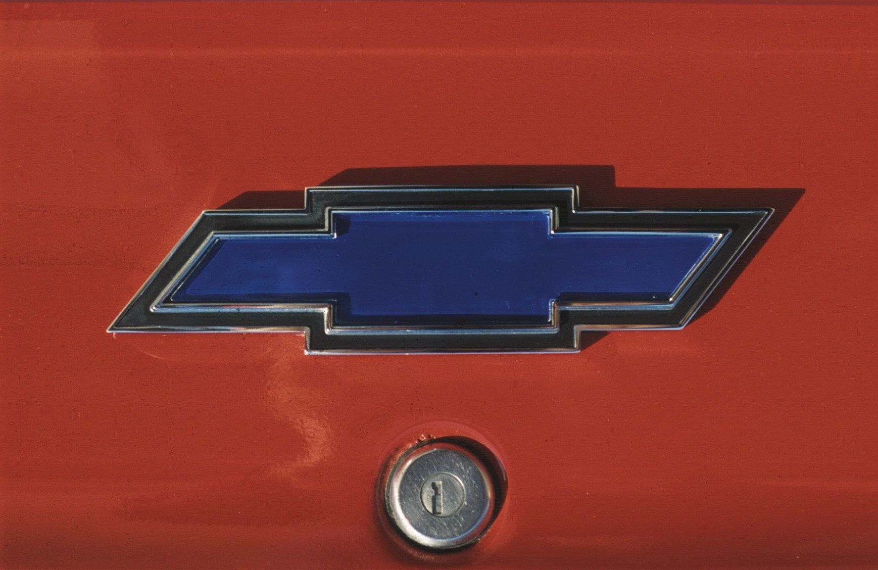 1969 Chevy Camaro 307 Blue Bowtie Badge