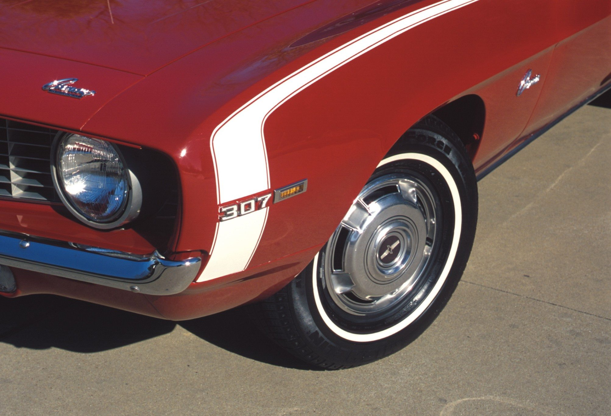 1969 Chevy Camaro 307 Front Fender and Wheel