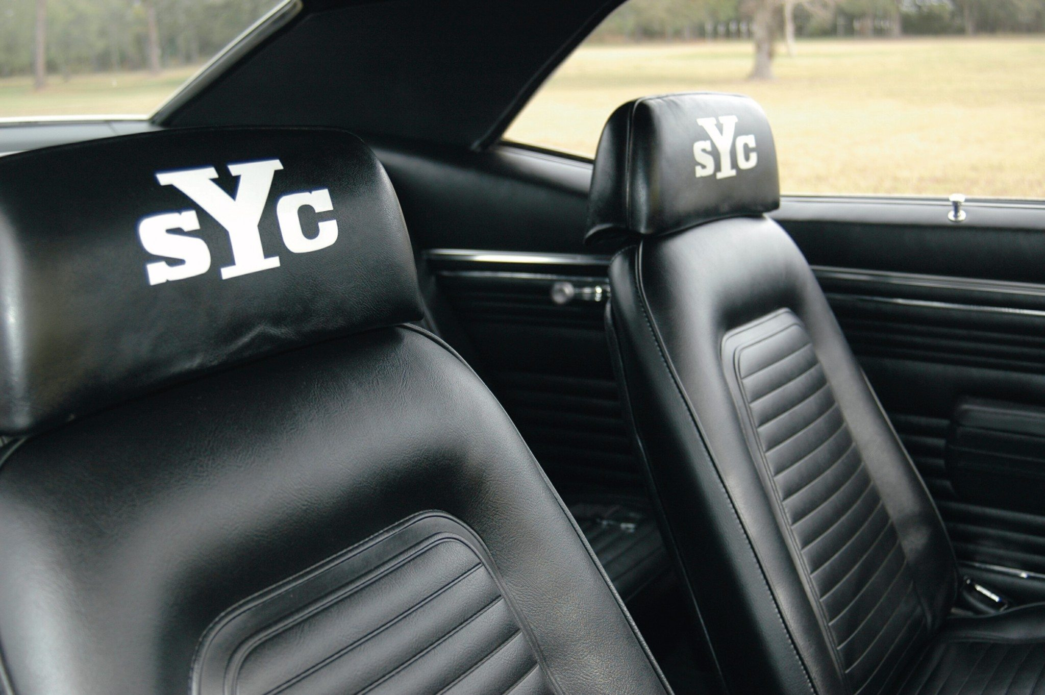 1969 Super Yenko Camaro Interior Headrests
