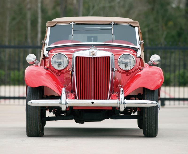 1950 MG TD Roadster Front View