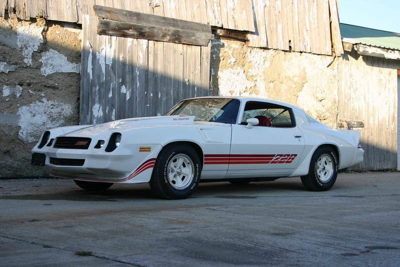 1981 Chevrolet Camaro Z28 White with Red Decals