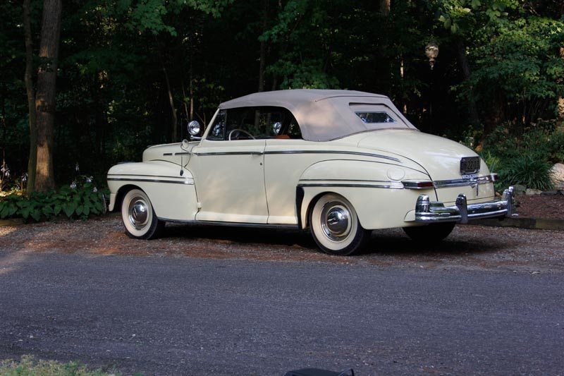 1948 Mercury Convertible driver side view with roof up