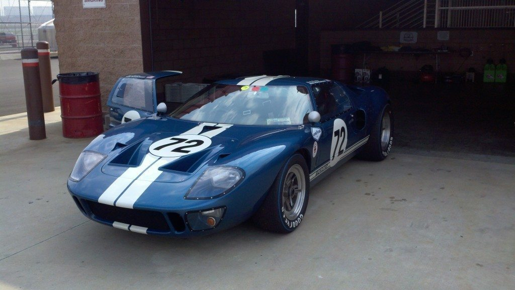 A Ford GT40 at Auto Club Speedway.