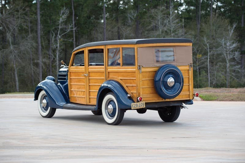 1936 Ford Station Wagon Woodie Rear