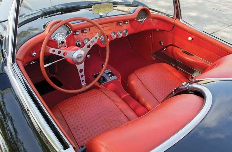 1956 Chevrolet Corvette Roadster Gorgeous Red Interior