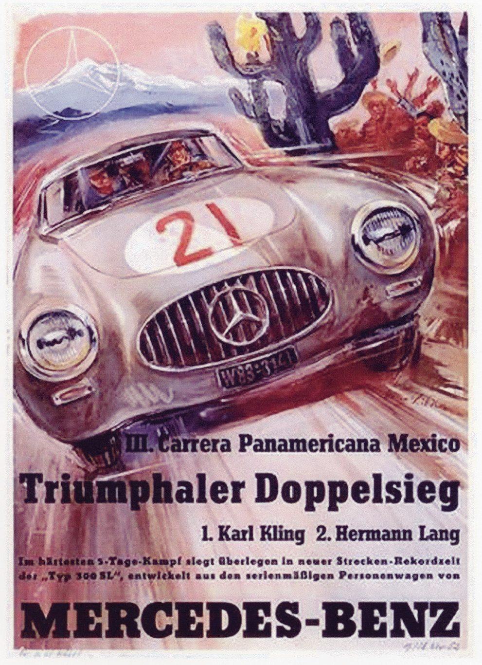 300sl Gullwing 1952 Carrera PanAmericana