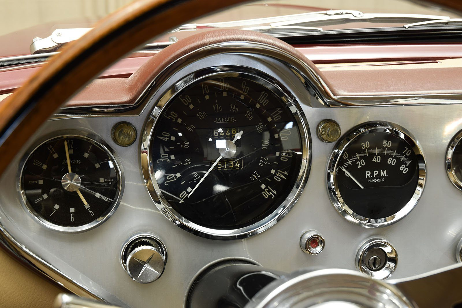 1963 Ghia L6.4 Coupe dashboard and gauges