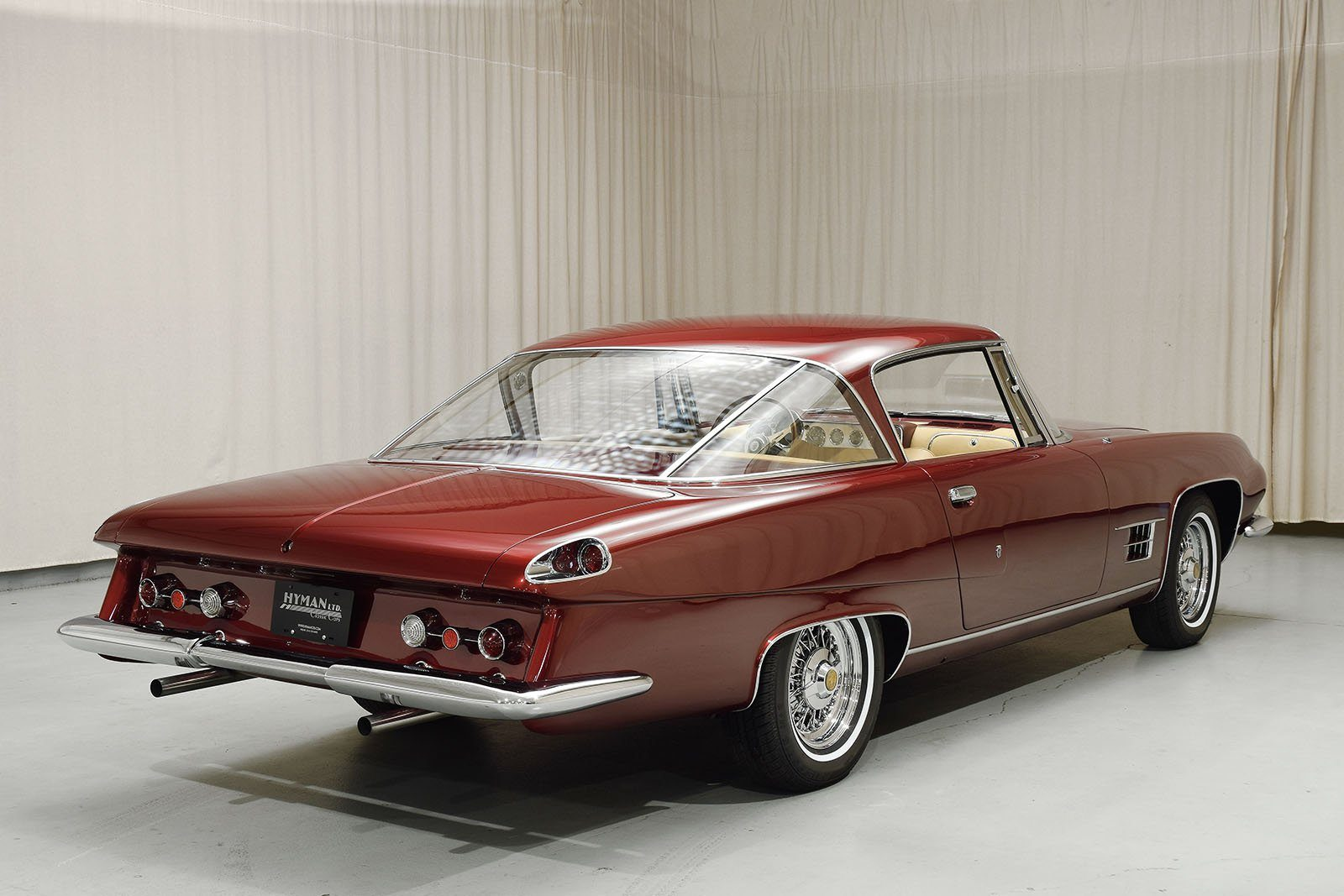 1963 Ghia L6.4 Coupe viewed from rear