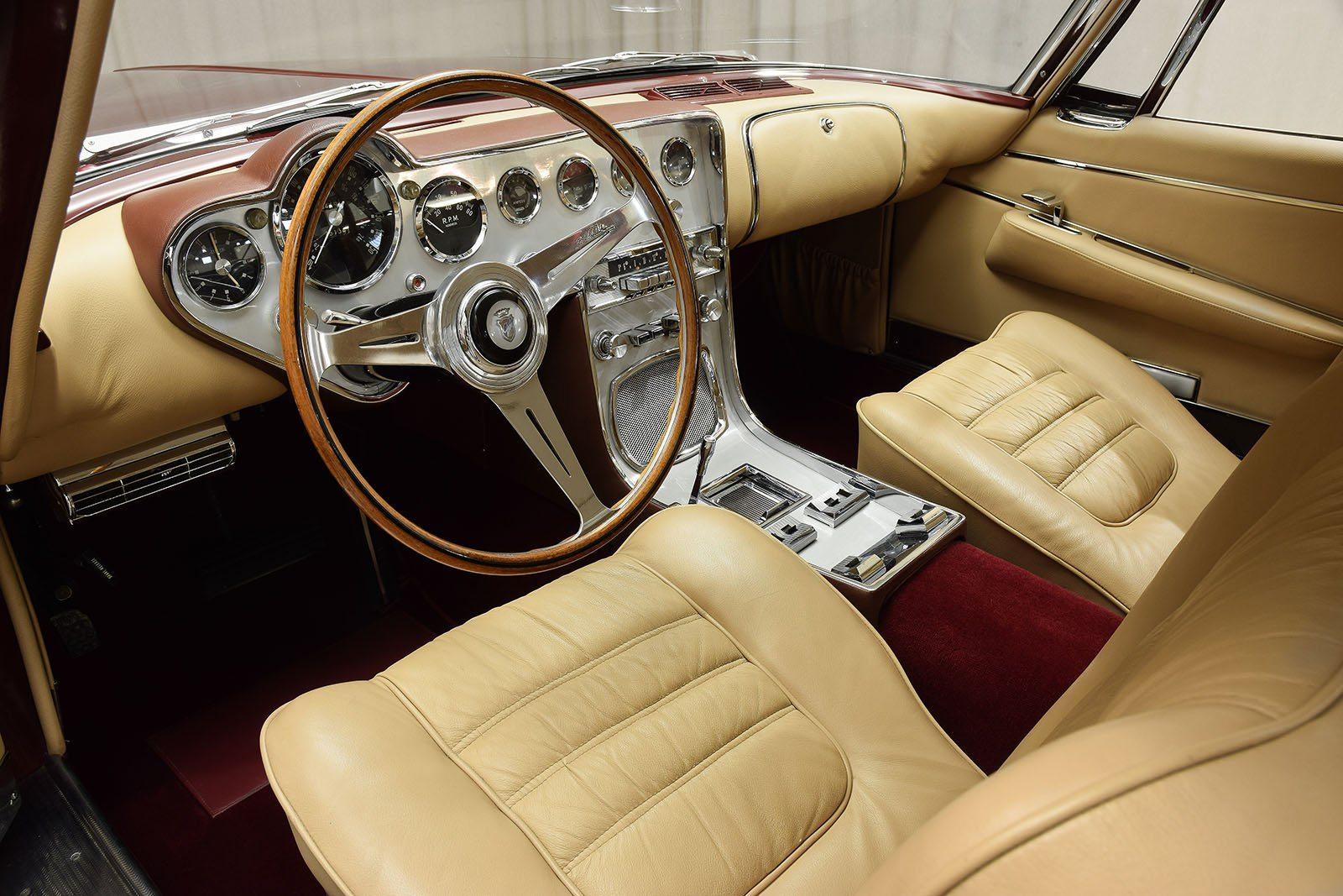 1963 Ghia L6.4 Coupe interior