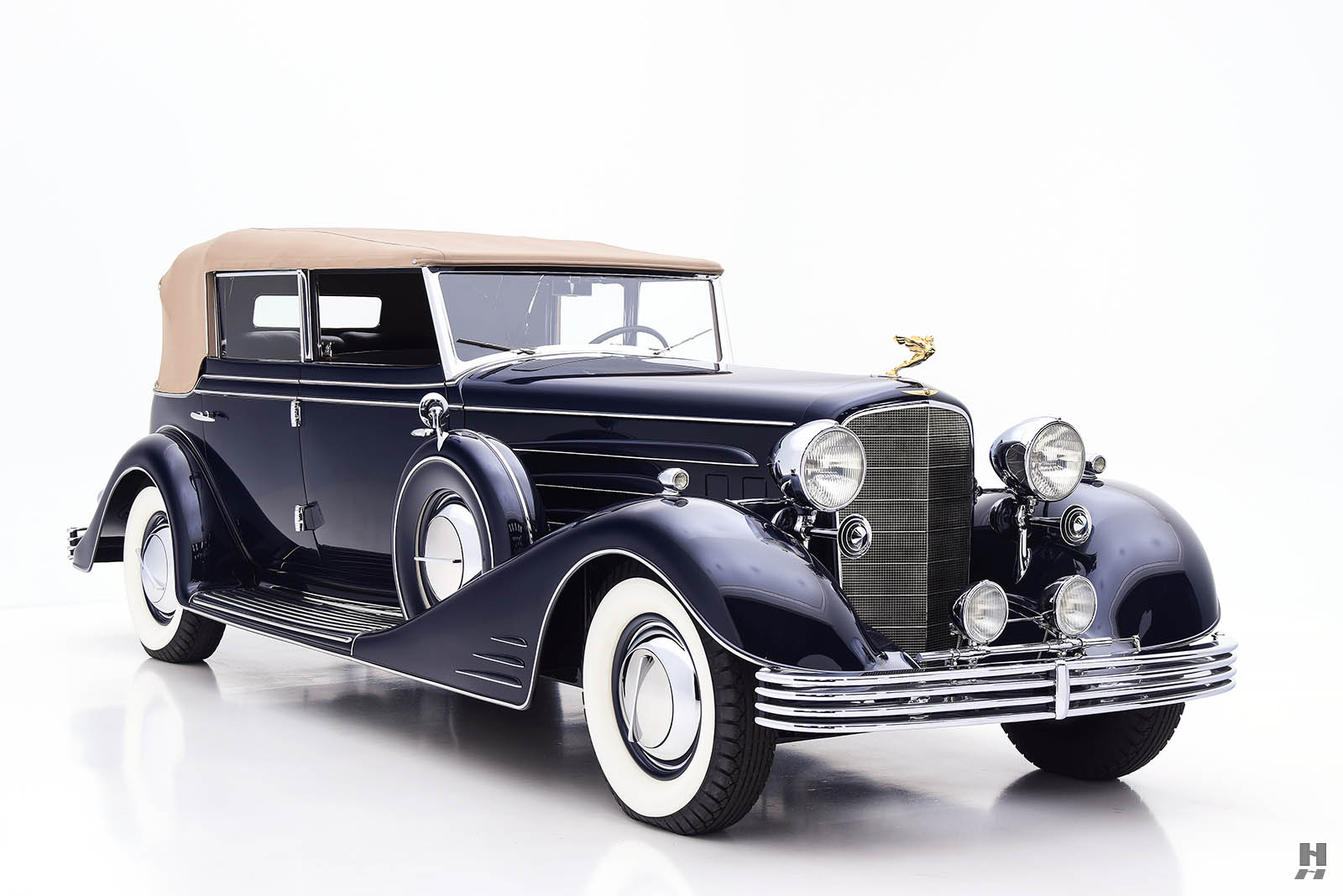 1933 Cadillac V-16 All Weather Phaeton Front Third View