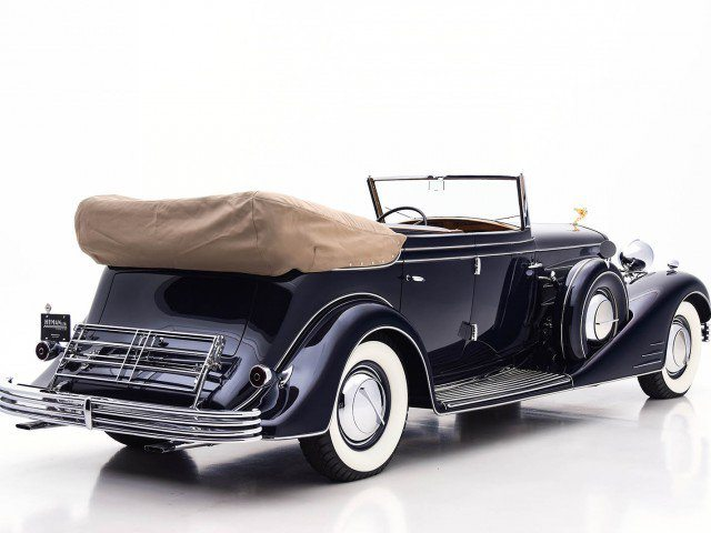 1933 Cadillac V-16 All Weather Phaeton Rear with Top Down