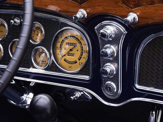 1933 Cadillac V-16 All Weather Phaeton Interior Dash and Gauges
