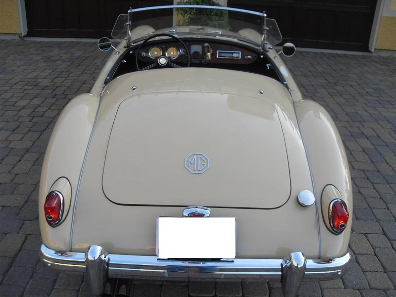 1957 MG MGA Roadster Rear With Roof Down