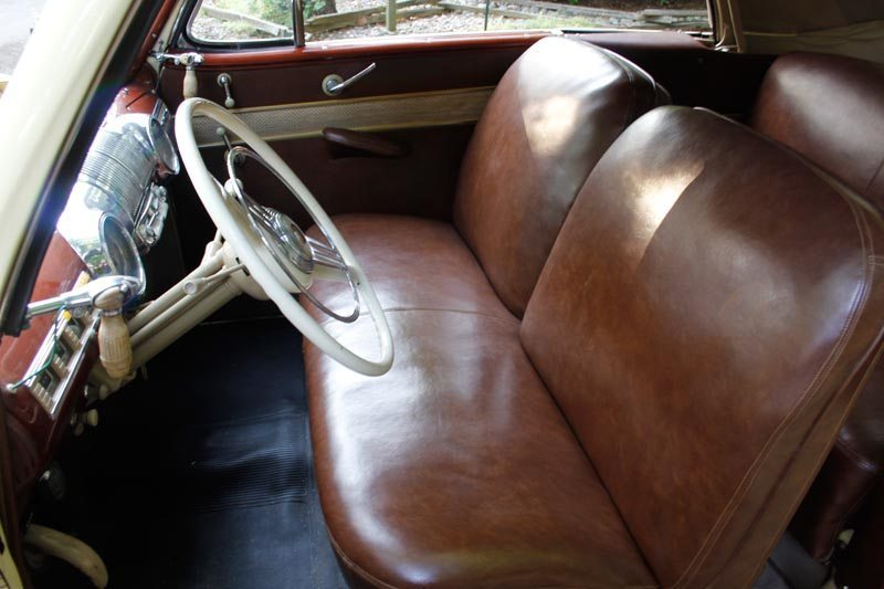 1948 Mercury Convertible front seat interior view