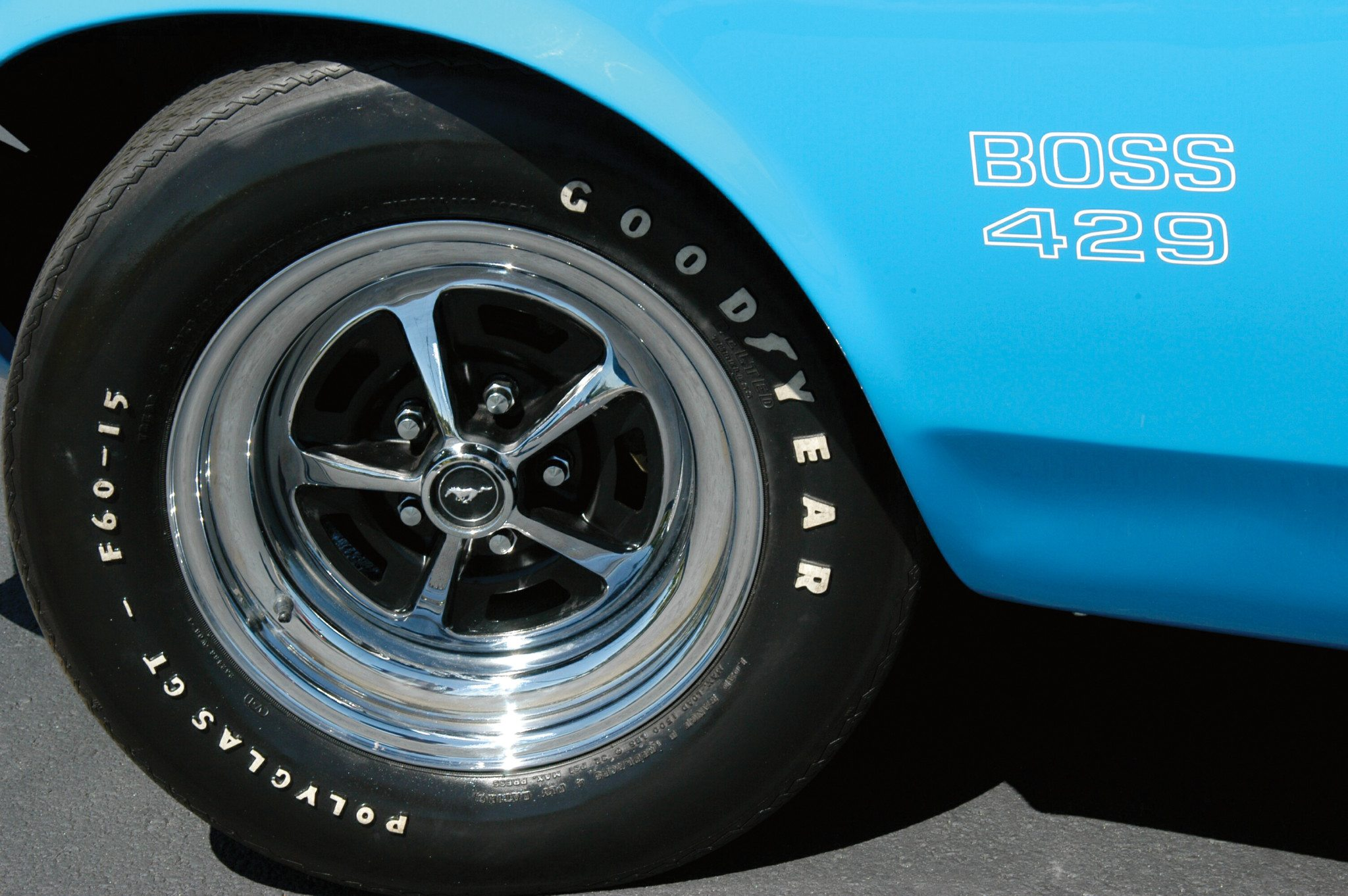 70's Boss 429 Mustang Decal and Wheel