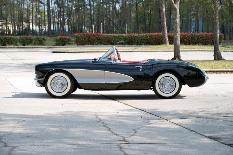 1956 Chevrolet Corvette Roadster Side Top Down