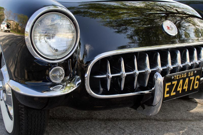 1956 Chevrolet Corvette Roadster Front Close Up